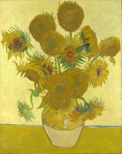 A flor do Sol. Quadro de Girassóis feito por Van Gogh 1888
